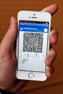 MVG Handy Ticket Foto QR
