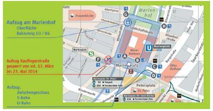 U S Bahnhof Marienplatz Aufzug Wird Erneuert