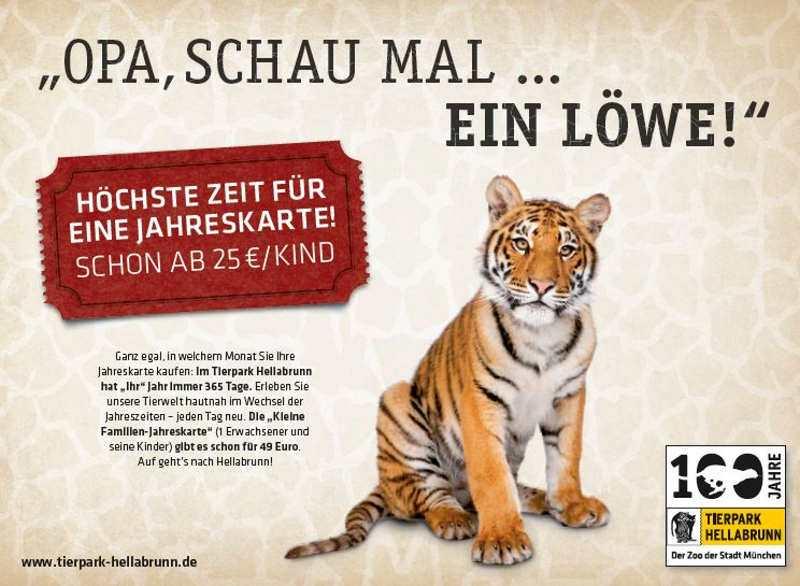 Hellabrunn erhält Preis für Jahreskarten-Anzeige