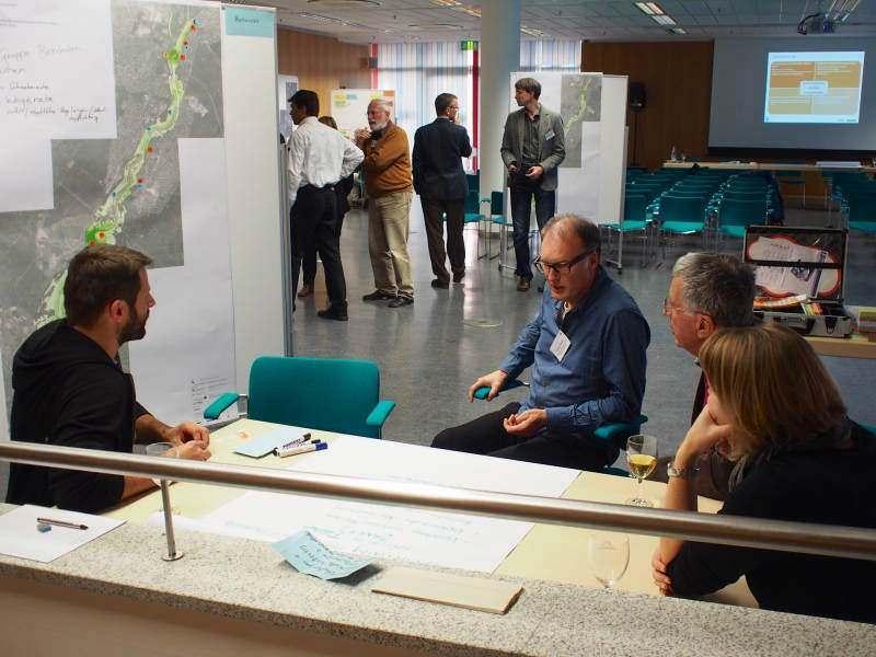 Diskussionen um Positionen im Workshop zur Zukunft des Isartals