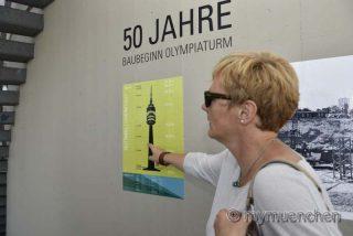 Vor 50 Jahren ging es hoch hinaus   Führungen und Ausstellung begleiten das Baujubiläum des Olympiaturms