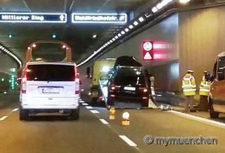 Verkehrsunfall im Luise-Kiesselbach-Tunnel