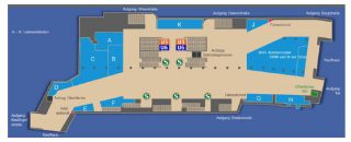 Quelle:MVG Aufgeräumt: An die neue Bahnhofshalle im Zentrum des Zwischengeschosses schließen sich Passagen mit Läden, das MVG   Kundencenter und der SWM und M-net Shop an.