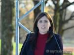 Israels Vizeaußenministerin Hotoveli am geplanten Erinnerungsort im Olympiagelände