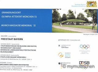 Festakt mit Kultusminister Spaenle und Israels Vizeaußenministerin Hotoveli am geplanten Erinnerungsort im Olympiagelände