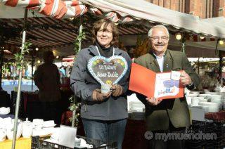 Auer-Dult-Jubiläum 2016 50 Jahre Namenstassen aus Porzellan