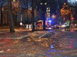 Wasserrohrbruch auf der Straße in der Schäftlarnstraße