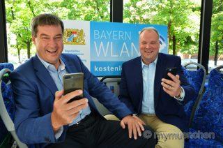 SÖDER: KOSTENFREIES BAYERNWLAN FÜR MÜNCHNER REGIONALBUSSE