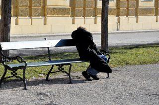 obdachlose Menschen