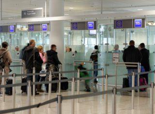 Bundespolizei -Passkontrolle