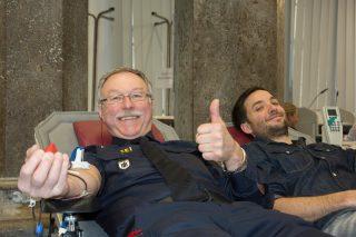 Blutspendeaktion im Polizeipräsidium München