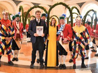 Münchner Schäffler in der Staatskanzlei 2019