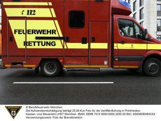 Alarmfahrt endet mit einer Verletzten (Neuhausen-Nymphenburg)