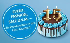 Riem Arcaden: feiern gleich zwei Geburtstage