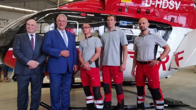 Münchner Luftrettungsstation der DRF Luftrettung Bayerns Luftrettung gilt als Spitzenreiter: Innenminister Herrmann betont deren Bedeutung für die Notfallrettung