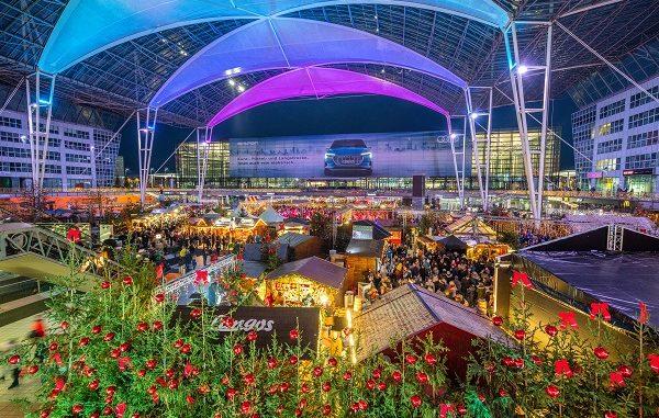 Flughafen Wintermarkt