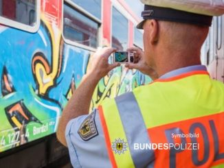 Bundespolizei -Grafftisprayer