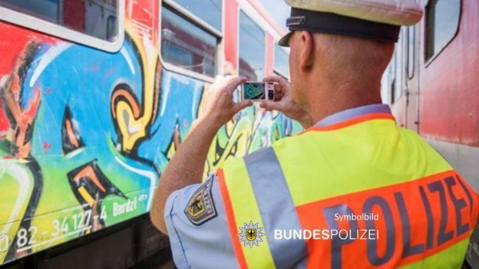 Bundespolizei -Grafftisprayer